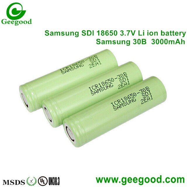 Original Samsung ICR18650-30A 30B 18650 3000mah 3.7V li-ion rechargeable battery