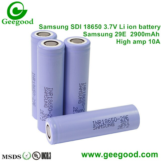 Samsung 18650 29E 2900mah 10A electronic tools battery