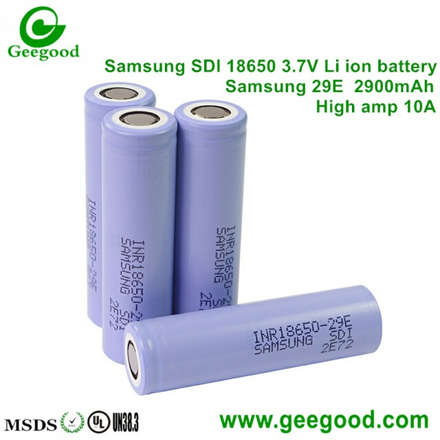 Samsung 18650 29E 32E 33G 35E 2900mah 3200MAH 3500mAh 10A high power battery