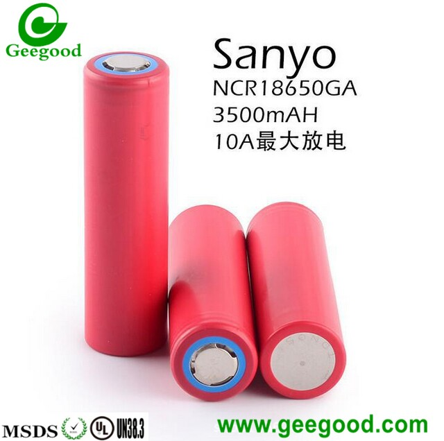 Sanyo 18650GA 3500mAh 10A high amp 18650 lithium ion batteries