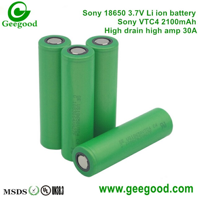Sony VTC4 2100mah 30A 18650 3.7V batteries Sony VTC best battery for vape