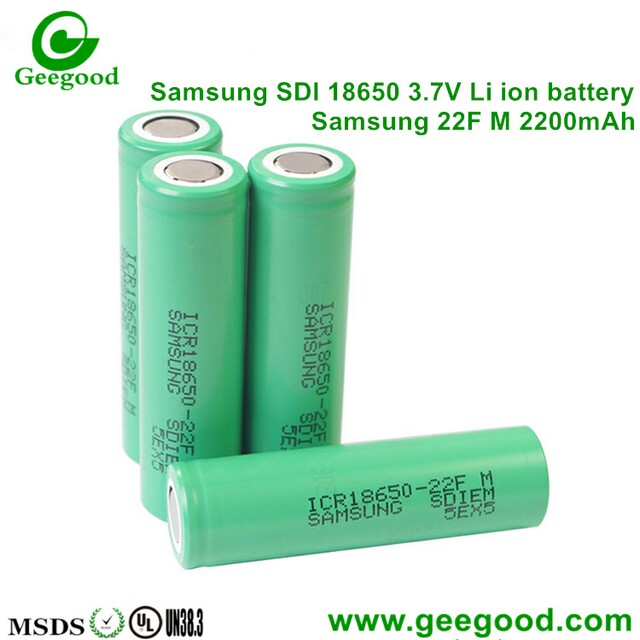 Samsung 18650 22F 22F M 2200mah 3.7V Li -ion battery for laptop / power bank
