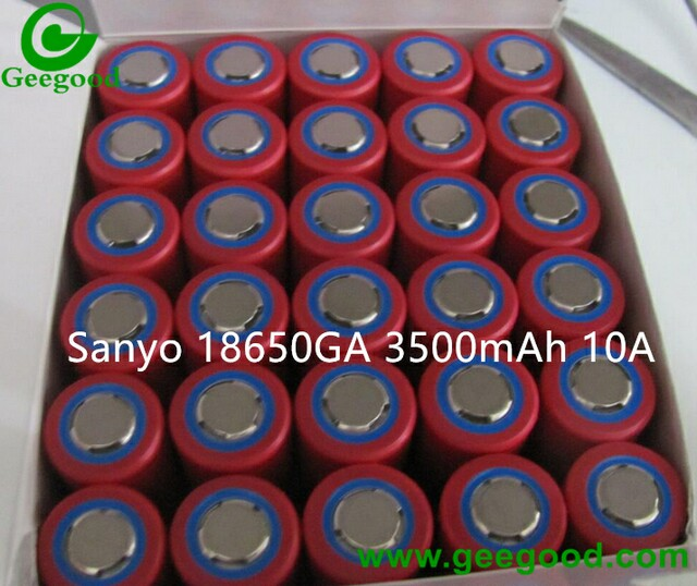 Sanyo 18650GA 3500mAh 10A high power 18650 battery for power tools / electronic vehicle PK MJ1