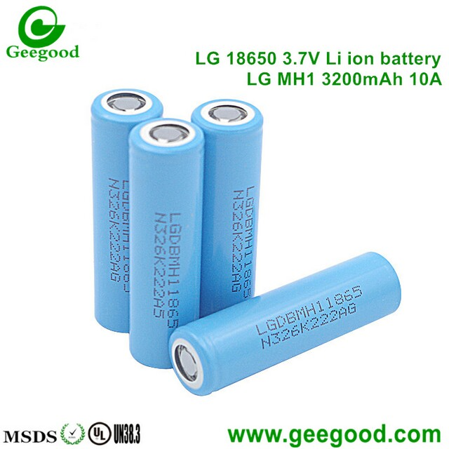 LG MH1 3200mAh 10A LG 18650 battery high amp power battery for e-car / electronic vehicle / power tools