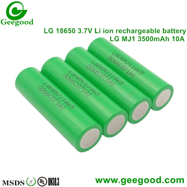 LG MJ1 3500mAh 10A 18650 3.7V Li-ion battery high capacity high power 1865 battery