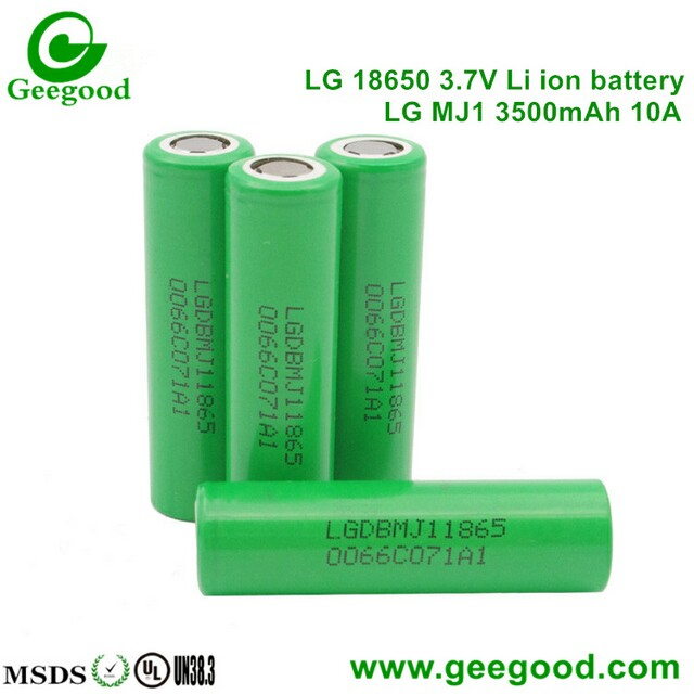 LG MJ1 3500mAh 10A power LGDBMJ11865 made in korea 18650 battery