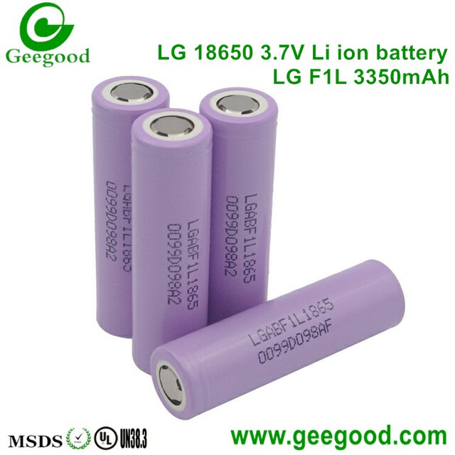 LG F1L 3350mAh 3.7V lithium battery 18650 high capacity batteries