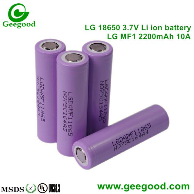 LG 18650 battery MF1 MF2 2200mah 10A for electronic scooter battery