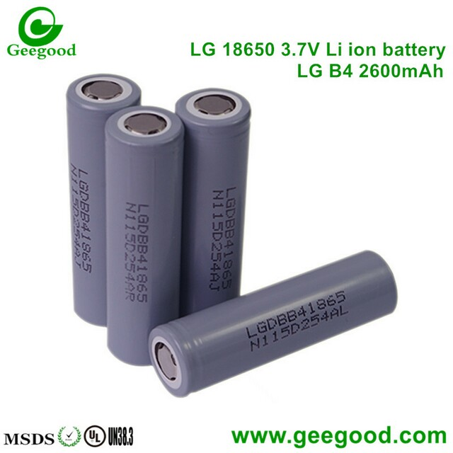 LG B4 B4L B2600mAh LG 18650 3.7V  li ion rechargeable battery