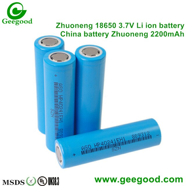 China Cheap Zhuoneng SZNS 18650 battery 2000mah 2200mAh 2600mAh 3000mAh