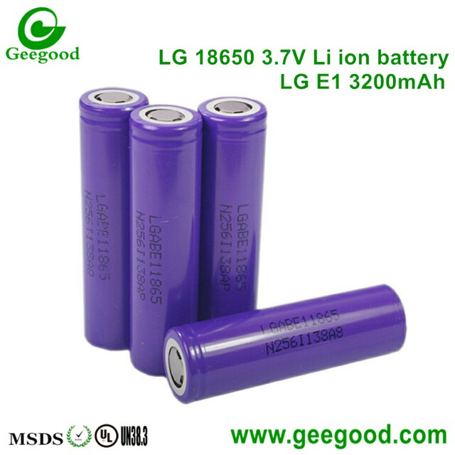 LG E1 E1T 3200mAh battery 18650 3.7V li-ion batteries