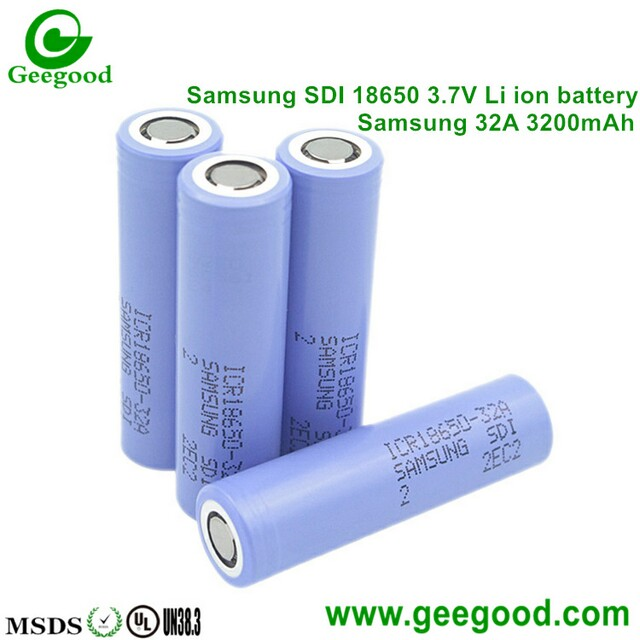Samsung SDI 18650 battery 32A 3200mAh big capacity 3.7V Li ion battery