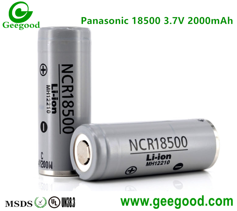 Panasonic NCR 18500 2000mAh 3.7V li ion battery 18500 batteries for camera / camcorder