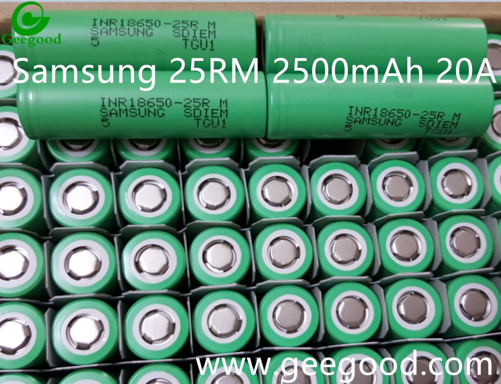 New battery Samsung 25RM 2500mAh 20A same as 25R 25R M 18650 3.7V Li ion battery high amp 1865