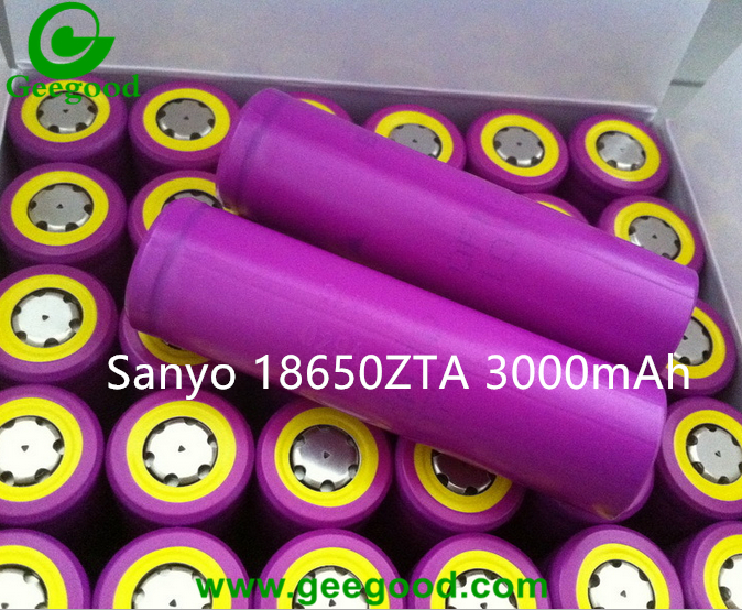 Sanyo 18650ZTA 3000mAh 18650 3.7V Li ion rechargeable batteries