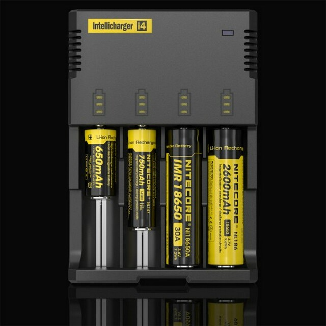 Nitecore charger i4 multifunction 4 bay battery charger with LCD screen
