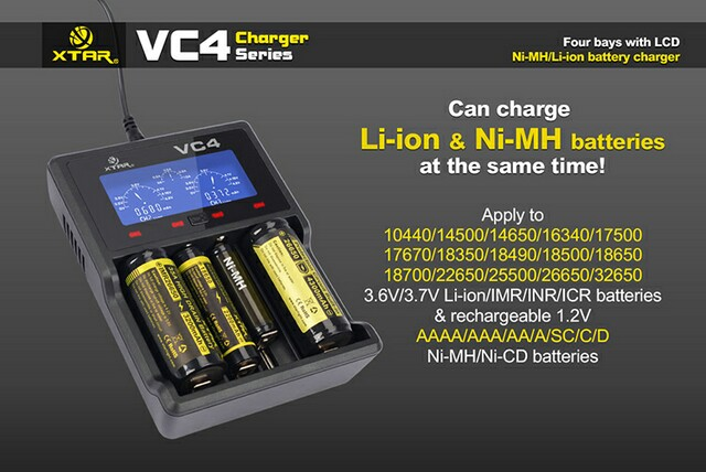 Xtar charger VC4 battery charger 4 bay charger