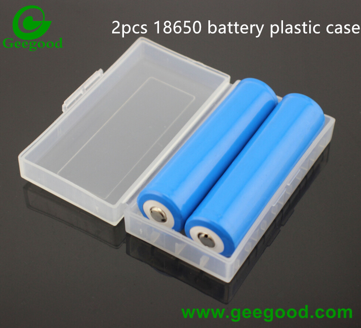 2pcs battery case 18650 battery protected plastic case