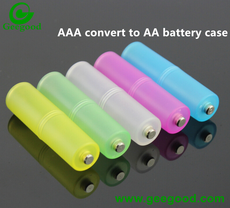 AAA battery convert to AA battery plastic protected case / battery converted case / battery plastic case