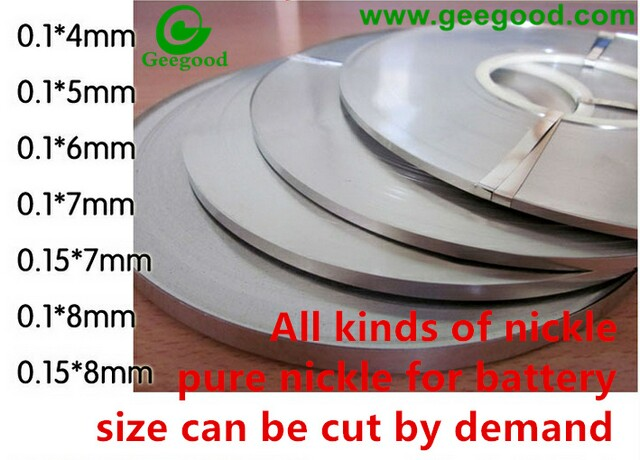 Pure Nickle 99.96%  0.1*2, 0.1*3, 0.1*4, 0.1*5, 0.1*7, 0.3*7, 0.1*4, 0.1*8, 0.1*110 many size nickle for battery pack