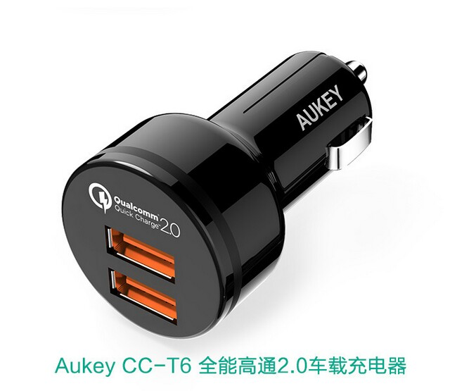 Aukey car charger CC-T6 QC2.0 QC3.0 4 in one USB2.0 USB3.0 quick charge car charger