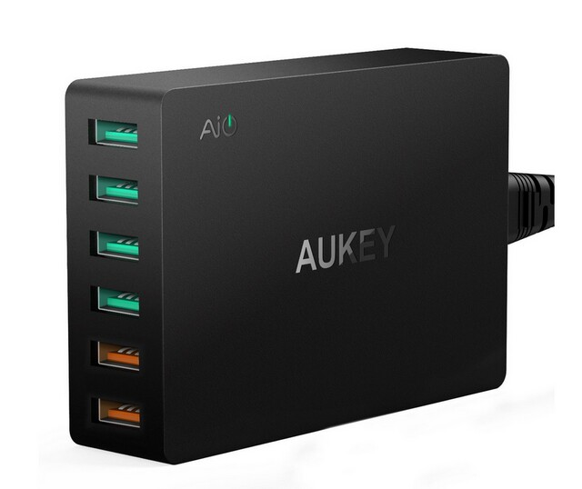 Aukey PA-T11 new aipower USB quick charger super SIX IN ONE USB2.0 USB3.0 quick wall charger