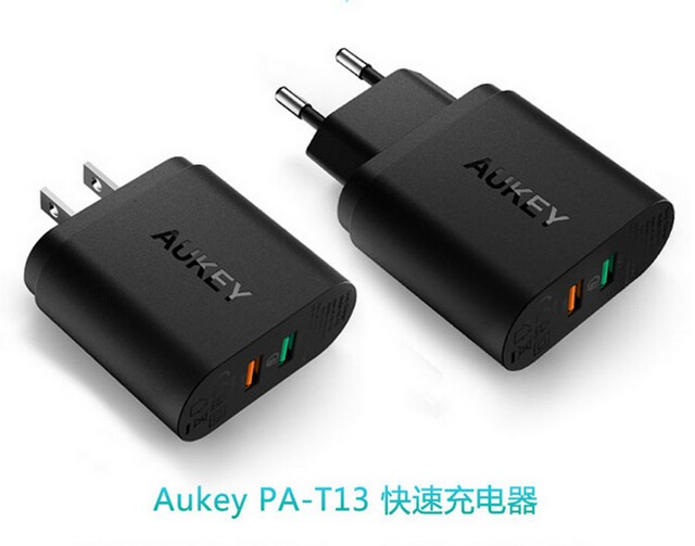 Aukey PA-T13 aipower USB2.0 USB3.0 dual universal travel USB quick charge wall charger station
