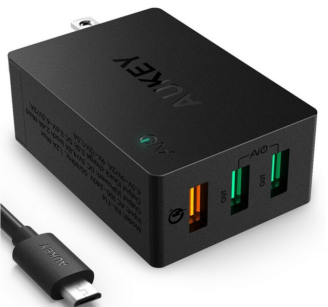 Aukey PA-T14 aipower QC2.0 QC3.0 super 3 USB2.0 usb3.0 quick charge wall charger station