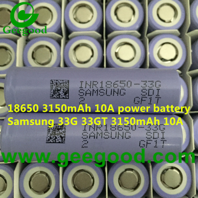 Original Samsung INR18650 33G 33G T 3150mAh 10A power battery