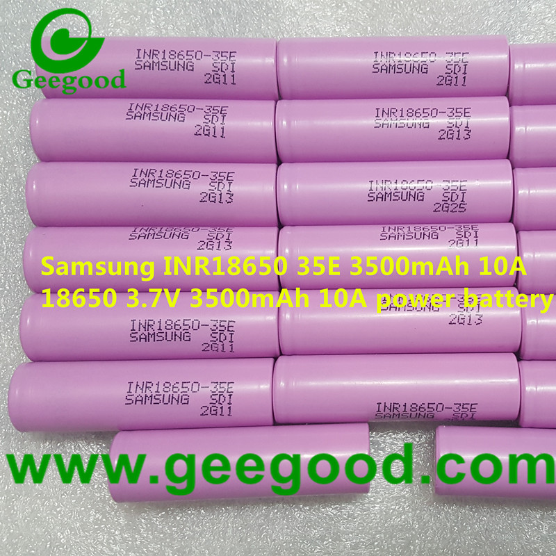 Samsung 35E INR18650-35E 3500mAh min 3350mAh 10A 18650 power battery for E-bike EV battery