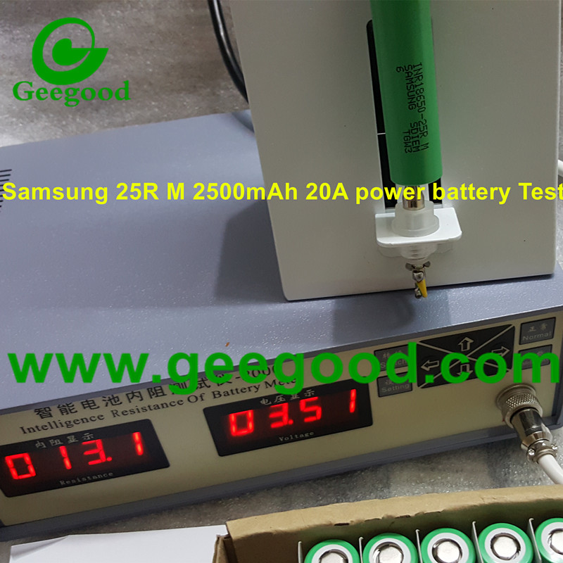 Samsung INR18650-25R 25RM 2500mAh 20A 18650 power battery for vape / e-cig / power tools