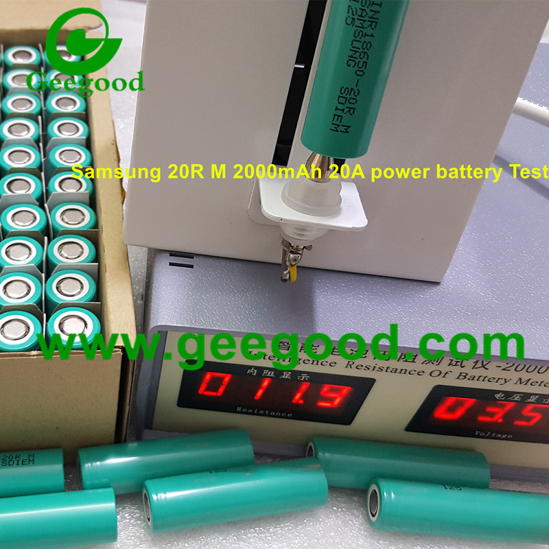 Samsung 18650 20R 20R M INR18650-20R 20RM 2000mAh 20A 3.7V li ion power battery