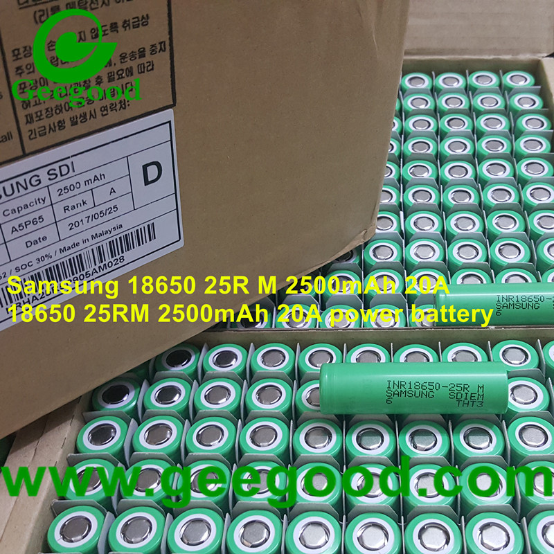 Samsung INR18650-25R M 2500mAh 20A same 25R 25RM 18650 20A cheap power battery