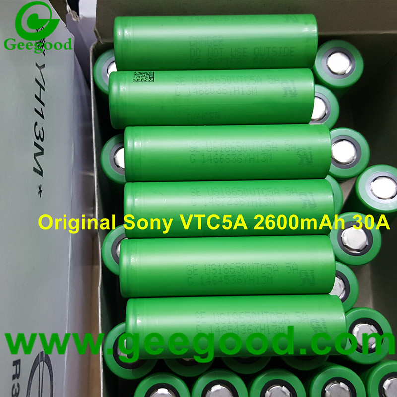 Original Sony US18650VTC5A VTC5A 18650 2600mAh 30A power vape battery