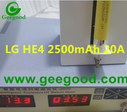 LGDBHE41865 LG HE4 2500mAh 20A 18650 high power battery