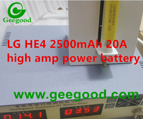 LG HE4 2500mAh 20A LG 18650 power battery for vape / Mod / Power tools