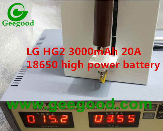 LGDBHG21865 LG 18650 HG2 3000mAh 20A high amp battery