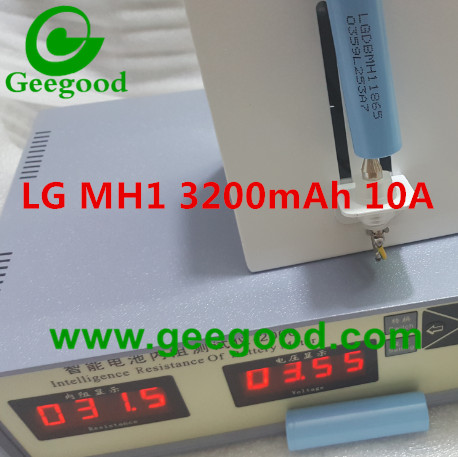 LG MH1 3200mAh LGDBMH11865 LGGBMH11865 10A 18650 power battery for Vape EV battery pack