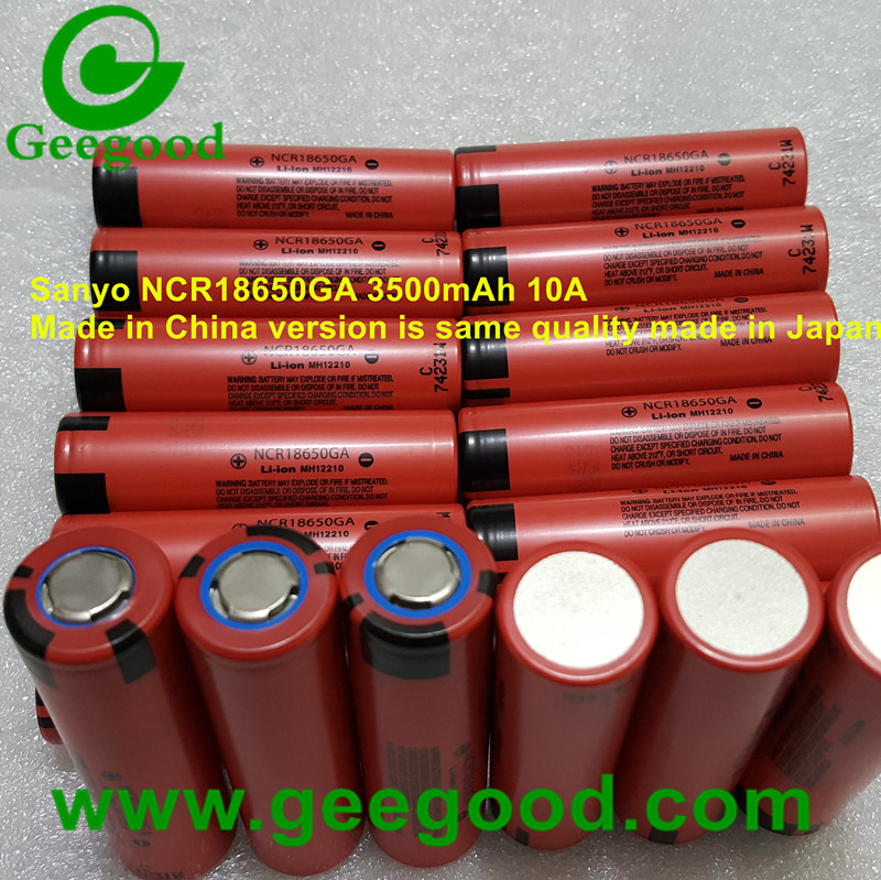 Made in China original Sanyo NCR18650GA 3500mAh 10A 18650 3.7V li ion battery