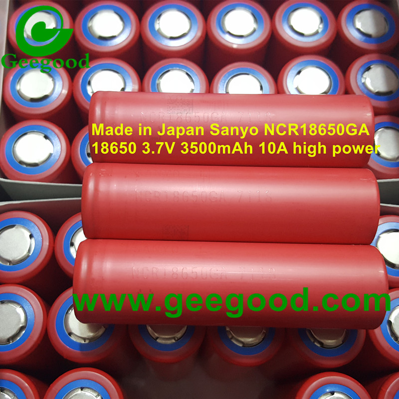 Made in Japan Sanyo NCR18650GA 3500mAh 10A best power battery