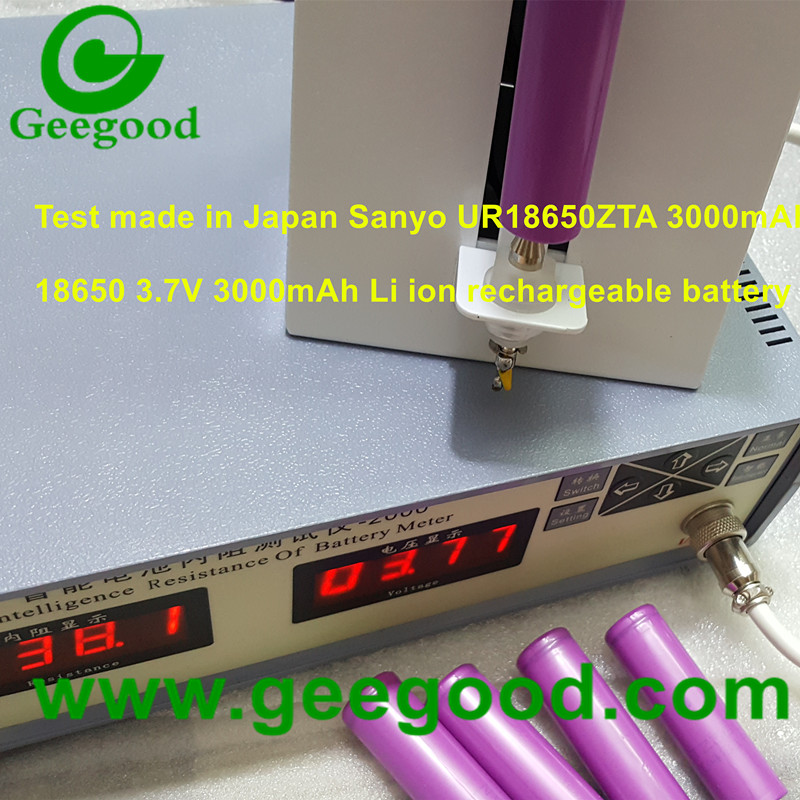 Sanyo UR18650ZTA 3000mAh 18650 3.7V Li ion rechargeable batteries