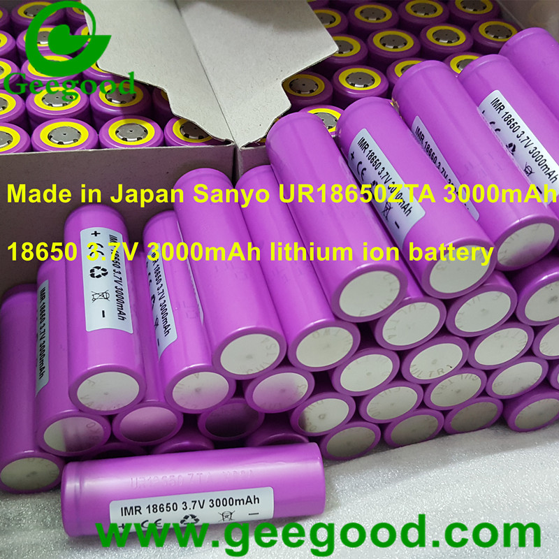 Made in Japan Sanyo UR 18650ZTA 3000mAh 3.7V 18650 li ion batteries