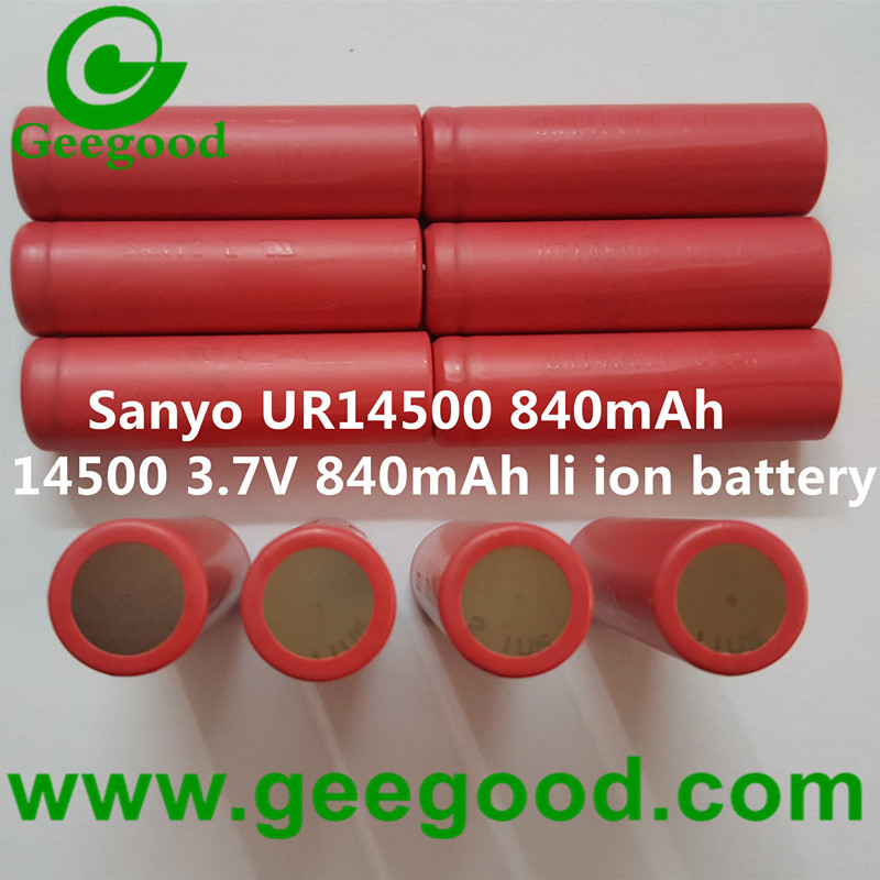 Sanyo UR14500P 840mAh 14500 3.7V 840mAh li ion battery
