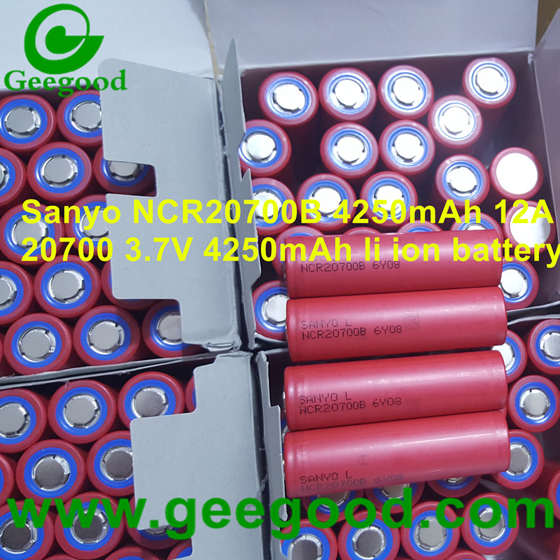 Japan Sanyo NCR20700B 4250mAh 12A 20700 3.7V li-ion battery