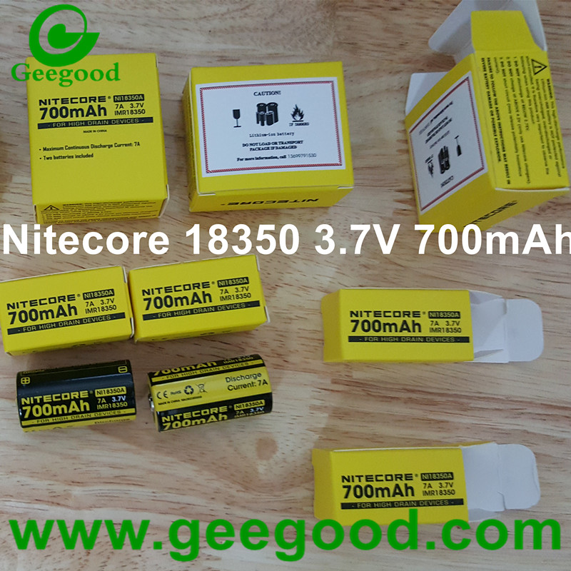 Nitecore IMR 18350 700mAh 3.7V 7A li ion battery for high drain devices