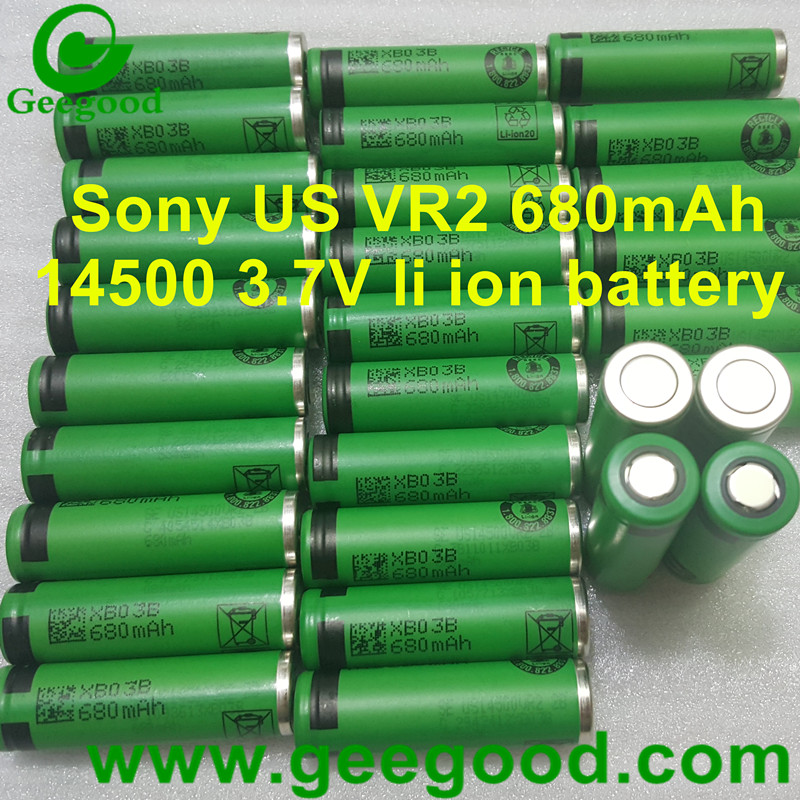 Original Sony US VR2 680mAh 14500 3.7V li ion battery
