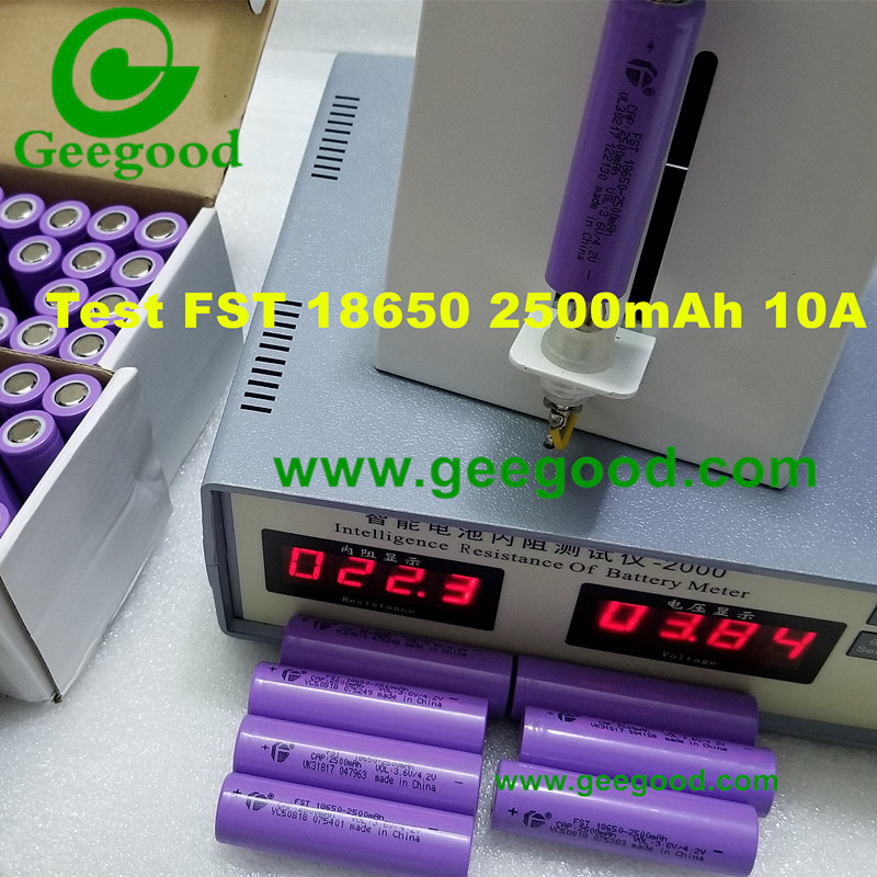 China FST 18650 2500mAh 10A E-bike E-scooter Electric vehicle power battery