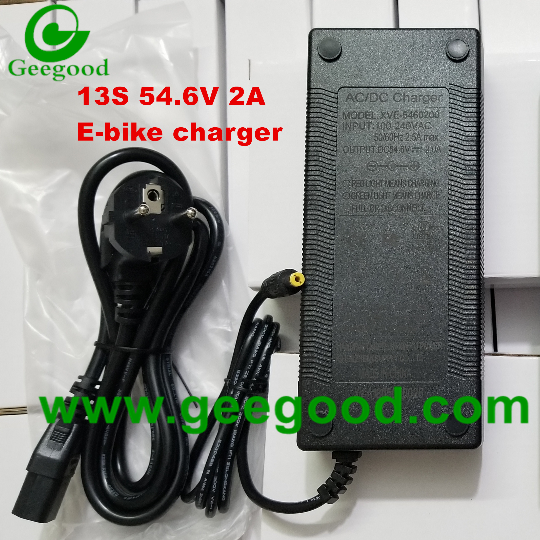 13S 54.6V 2A charger EV charger E-bike charger OEM ODM