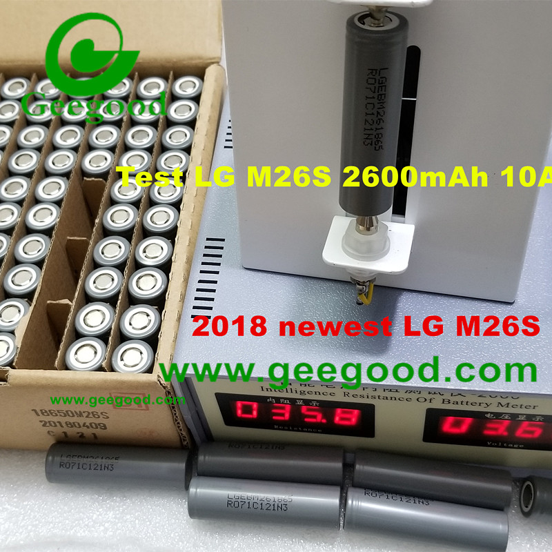 LG M26 M26S 18650 3.6V 2600mAh 10A power battery cheap price for EV / E-bike/ E-scooter