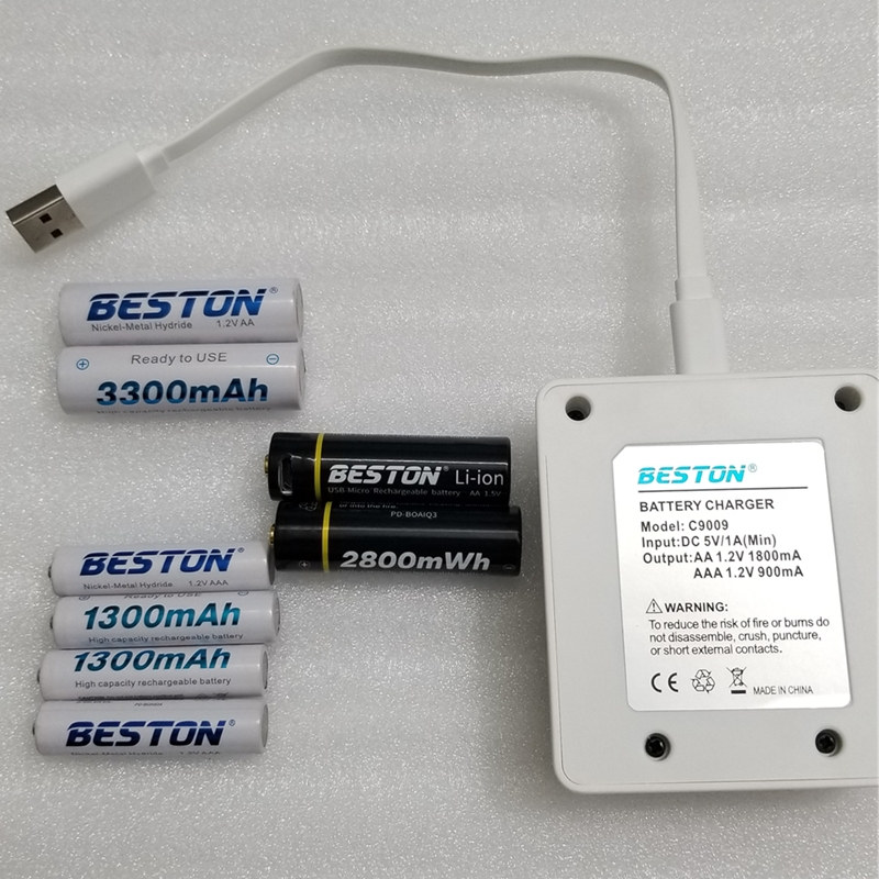 BESTON USB rechargeable battery and charger  AA AAA 1.5V battery